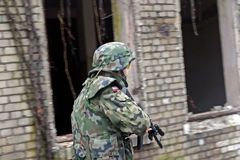 Army soldier. Playing ASG / airsoft combat game Stock Photo