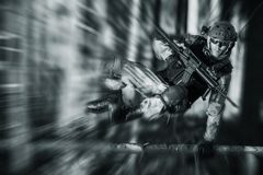 Army Soldier in Action Stock Photos