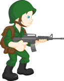 Army soldier boy posing Royalty Free Stock Image