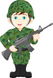 Army soldier boy posing Stock Images