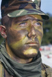 Army Soldier in Camouflage. Headshot of soldier in camouflage Royalty Free Stock Image