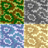Army Soldier Camouflage Background Pattern Set. Vector Royalty Free Stock Photos
