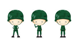 A army soldier cartoon Stock Images
