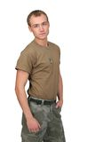 Army soldier guy Royalty Free Stock Images