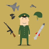 Army, soldier and military objects Stock Image