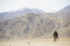 Army soldier photographer Stock Photography