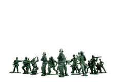 Army Soldiers. Isolated image of Plastic Soldiers in Battle Royalty Free Stock Photo