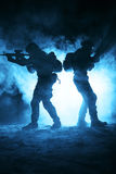 Army soldiers attacking Stock Images