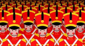 Army of Soldiers Royalty Free Stock Image
