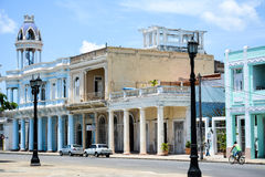 Army square, Cienfuegos. Army square, with an different old cars. Cienfuegos stock image
