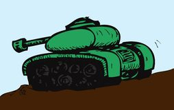 Army tank. Cartoon of an army tank Royalty Free Stock Image