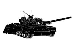 Army tank. Vector illustration of a stylized army tank Royalty Free Stock Photos