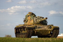 Army Tank. Military Tank in field Stock Images