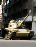 Army Tank. On the streets of Alexandria,Egypt after the president Hosny mobarak stepped down Stock Images