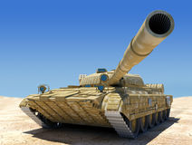 Army tank. Army tank in desert, 3d image Stock Images