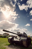 Army tank. With blue sky, military image Stock Images