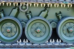 Army Tank Caterpillar. Close up Stock Photography