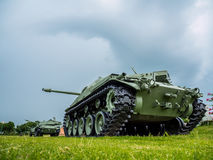 Army tank ground defense and attack Royalty Free Stock Image