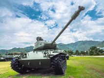 Army tank ground defense and attack. Powerful military tanks use for defense and attack Royalty Free Stock Photo