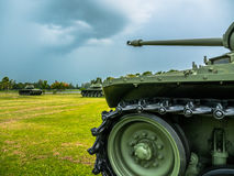 Army tank ground defense and attack Royalty Free Stock Images