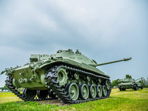Army tank ground defense and attack Stock Image