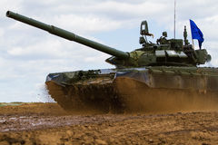 Army tank. Military training. Summer military exercises Royalty Free Stock Photo