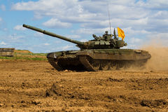 Army tank. Military training. Summer military exercises Stock Images