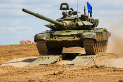 Army tank. Military training. Summer military exercises Royalty Free Stock Photography