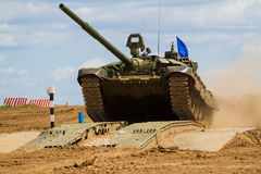 Army tank. Military training. Summer military exercises Stock Image