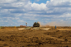 Army tank. Military training. Summer military exercises Royalty Free Stock Images