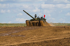 Army tank. Military training. Summer military exercises Stock Photography