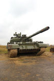 Army tank in the rainy weather Stock Photo
