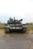 Army tank in the rainy weather Stock Photos