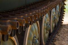 Army tank tracks Royalty Free Stock Image