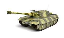 Army tank  on white Stock Photography