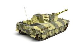 Army tank  on white Stock Photo
