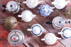 Army of tea pots Royalty Free Stock Image