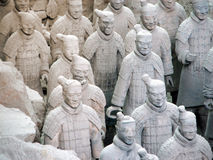 Army of Terracotta Warriors. One of Chinas top historical sights are the 2000 year old Army of Terracotta Warriors. Every statue is different and they are royalty free stock images
