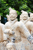 Army of terracotta warriors Stock Image