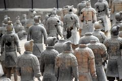 Army of Terracotta Warriors and Horses, Xian, China. Detail of the Army of Terracotta Warriors and Horses, Xian, Shaanxi, China, Asia stock photography