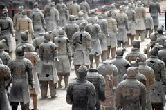 Army of Terracotta Warriors and Horses, Xian, China. Detail of the Army of Terracotta Warriors and Horses, Xian, Shaanxi, China, Asia stock photos