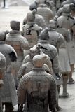 Army of Terracotta Warriors and Horses, Xian, China. Detail of the Army of Terracotta Warriors and Horses, Xian, Shaanxi, China, Asia stock image