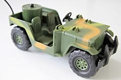 Army toy truck Stock Image