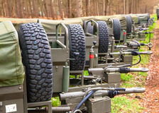 Army Trailers Royalty Free Stock Photo