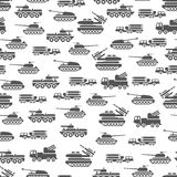 Army transport seamles pattern design - military transportation background. Army transport vector illustration Royalty Free Stock Images