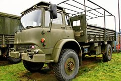 Army truck. Image of a army surplus truck parked up Royalty Free Stock Images