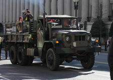 Army Truck, Veterans Supporting Ron Paul Royalty Free Stock Photos