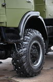 Army truck wheel Stock Photography