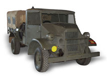Army Truck on White. A Chevrolet WWII truck used by the Canadian Army. (This JPEG file includes a clipping path to isolate the vehicle and remove the shadow royalty free stock images