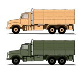Army trucks  Stock Photo